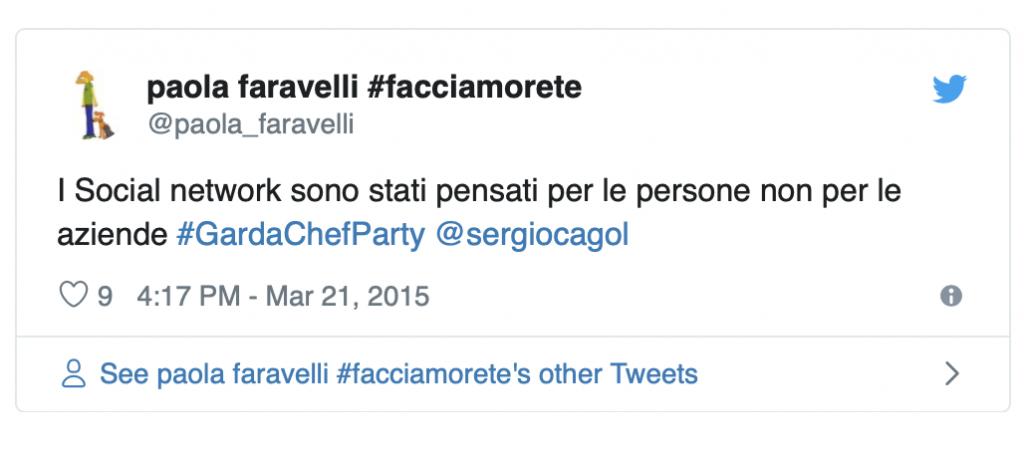 Paola Faravelli social network pensati per le persone