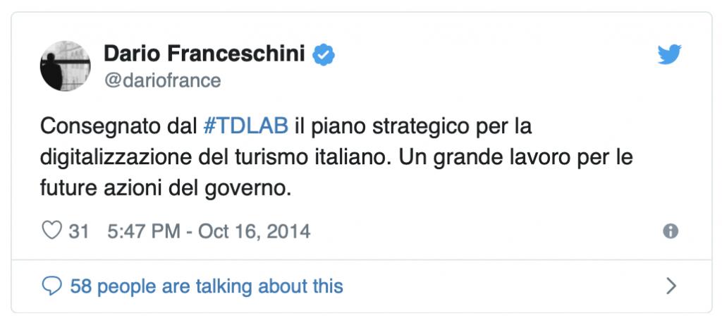 Il ministro Franceschini annuncia la conclusione dei lavori di TDLAB