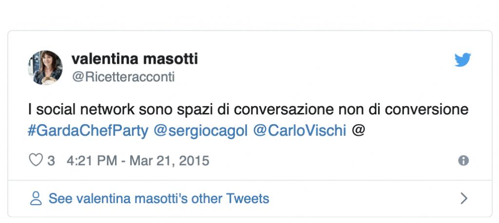Valentina Masotti social network spazi di conversazione
