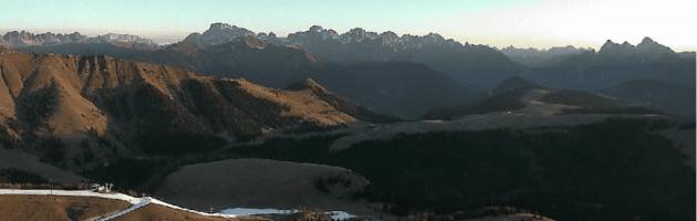 piste da sci senza neve