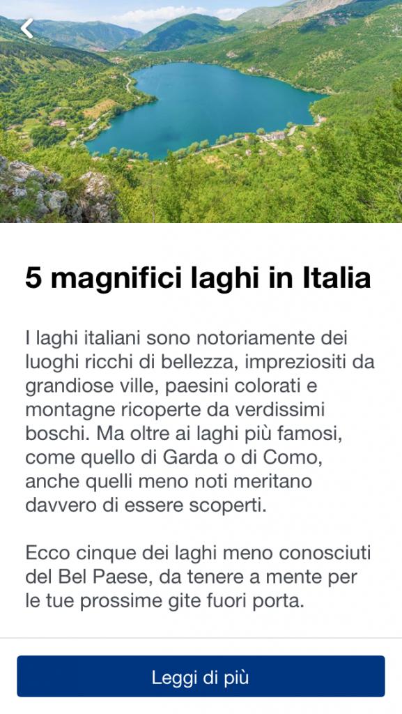 Cinque magnifici laghi in Italia