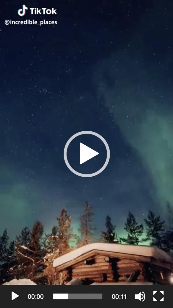 Tiktok aurora boreale