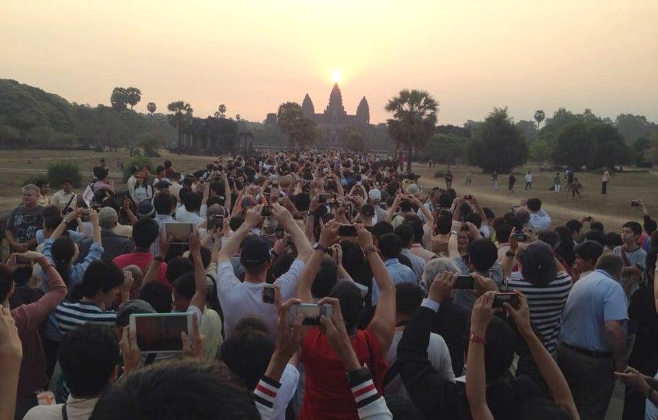 tramonto a Angkor Wat - Cambogia